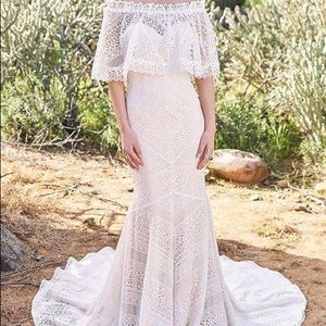 Lillian West Boho Wedding Dress Size 12
